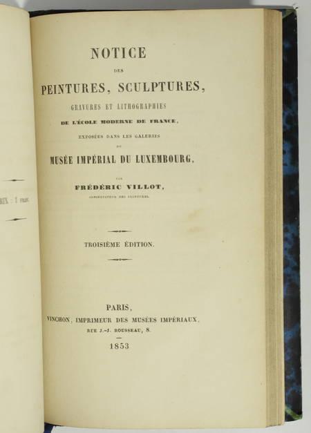 Catalogue du Musée de Cluny + Notice sur le musée du Luxembourg - 1849 et 1853 - Photo 2 - livre du XIXe siècle