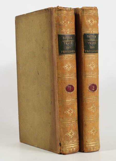 BATTUR (G. B.). Traité des privilèges et hypothèques, livre rare du XIXe siècle