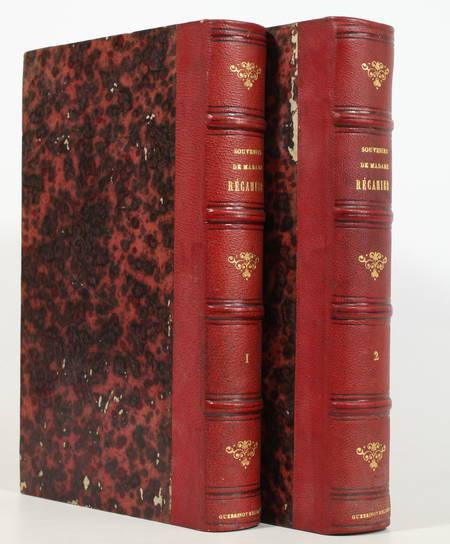 RECAMIER (Madame). Souvenirs et correspondance tirés des papiers de Madame Récamier