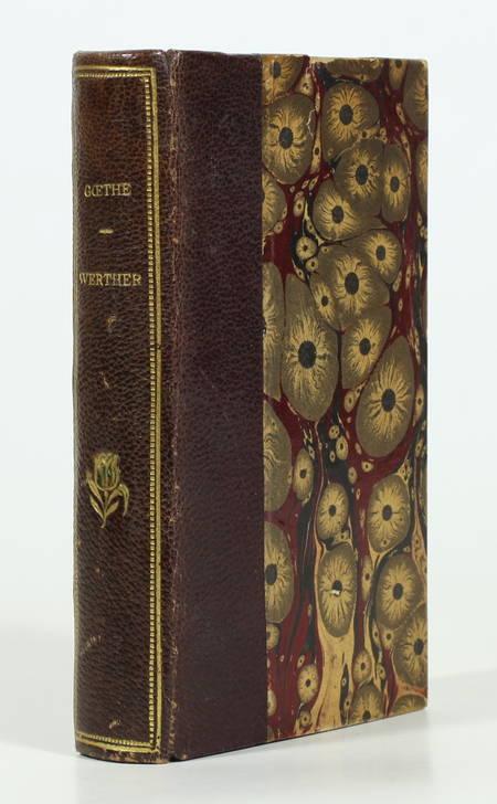 GOETHE. Werther, livre rare du XIXe siècle