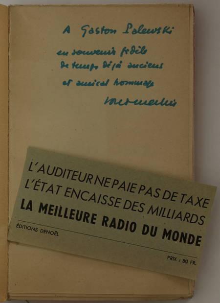 MERLIN (Louis). Au pays de la radio libre, livre rare du XXe siècle