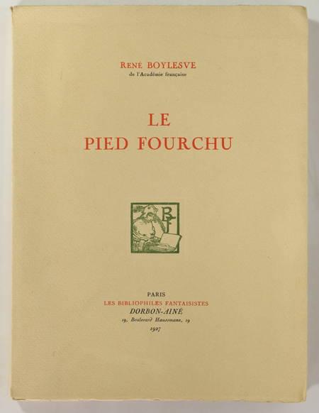 René BOYLESVE - Le pied fourchu - 1927 - 1/50 japon - Portrait par Rassenfosse - Photo 1, livre rare du XXe siècle