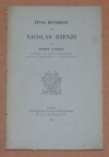Eugène d AURIAC - Etude historique sur Nicolas Rienzi - 1885 - Photo 0, livre rare du XIXe siècle