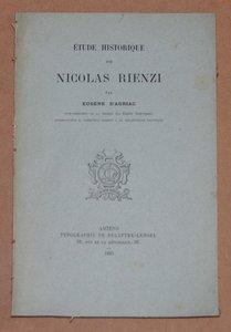 AURIAC (Eugène'). Etude historique sur Nicolas Rienzi, livre rare du XIXe siècle