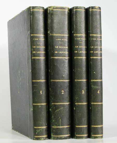 ROUSSEL Le Diocèse de Langres. Histoire et statistique ... 4 volumes - 1873-1879 - Photo 0 - livre de bibliophilie