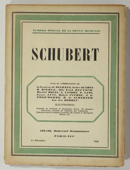[Musique] Schubert 1928 - par Noailles, Suarès ... ill de Laboureur, Galanis ... - Photo 1, livre rare du XXe siècle