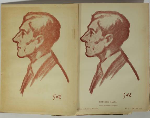 . Maurice Ravel. Numéro spécial de la Revue Musicale, 1er avril 1925 [contenant le supplément ] L'enfant et les sortilèges, fragments inédits, fantaisie de Colette et musique de Maurice Ravel