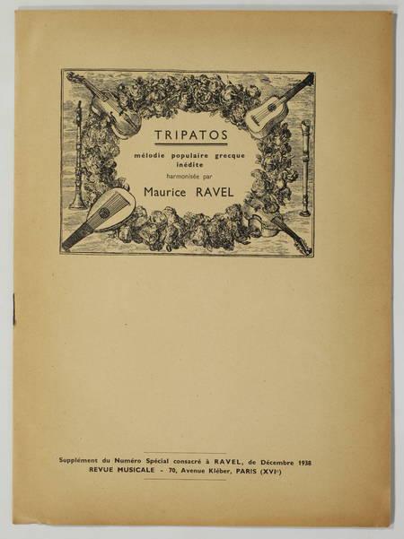 [Revue musicale] Hommage à Maurice Ravel - 1938 + Tripatos - Photo 2 - livre d occasion