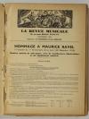 [Revue musicale] Hommage à Maurice Ravel - 1938 + Tripatos - Photo 3 - livre d occasion