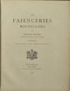 Georges MUSSET - Les faïenceries rochelaises - 1888 - Planches en couleurs - Photo 2 - livre de collection