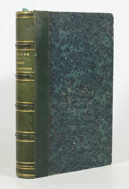 FOURNIER (Edouard). L'esprit dans l'histoire. Recherches et curiosités sur les mots historiques, livre rare du XIXe siècle