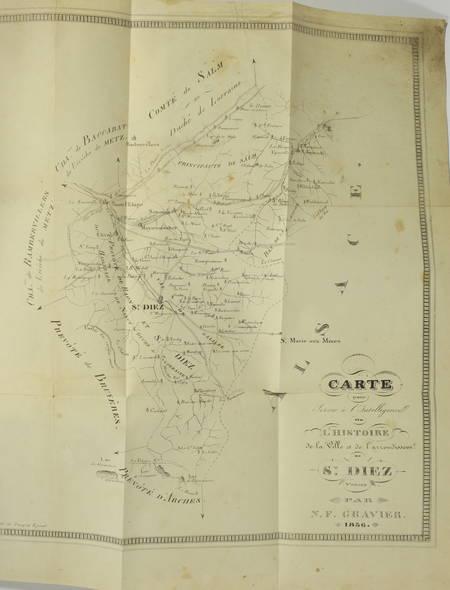 [Lorraine, Vosges] GRAVIER - Histoire de la ville de Saint-Dié - 1836 - Photo 3, livre rare du XIXe siècle