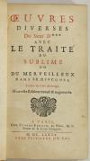[BOILEAU] Oeuvres diverses du Sieur D*** avec Le Traité du Sublime - 1685 - Photo 2, livre ancien du XVIIe siècle