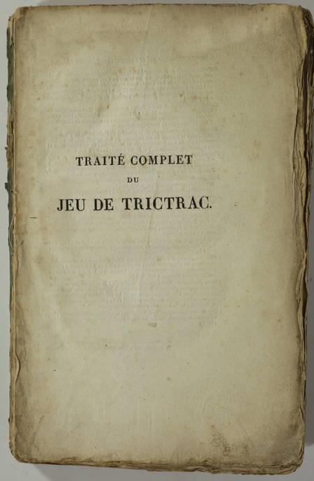 [GUITON] - Traité complet du jeu de Trictrac + Backgammon - 1822 - figures - Photo 2 - livre d occasion