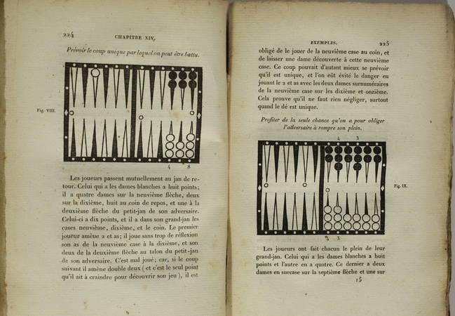 [GUITON] - Traité complet du jeu de Trictrac + Backgammon - 1822 - figures - Photo 3 - livre d occasion
