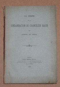 CAMOIN DE VENCE - La vérité sur la condamnation du Chancelier Bacon - 1886 - Photo 0 - livre d'occasion