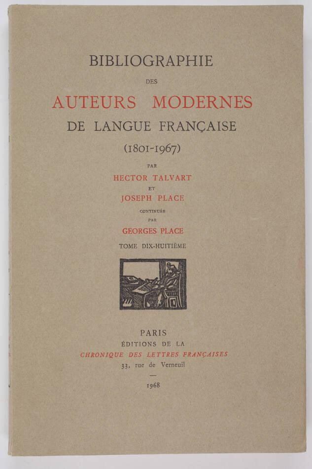 TALVART et PLACE - Bibliographie Littérature française (1801-1967) 18 : MIR-MON - Photo 0, livre rare du XXe siècle
