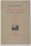 TALVART (Hector) et PLACE (Joseph). Bibliographie des auteurs modernes de langue française (1801-1967). Tome XVIII : MIRECOURT (Augène de) à MONGLOND (André)