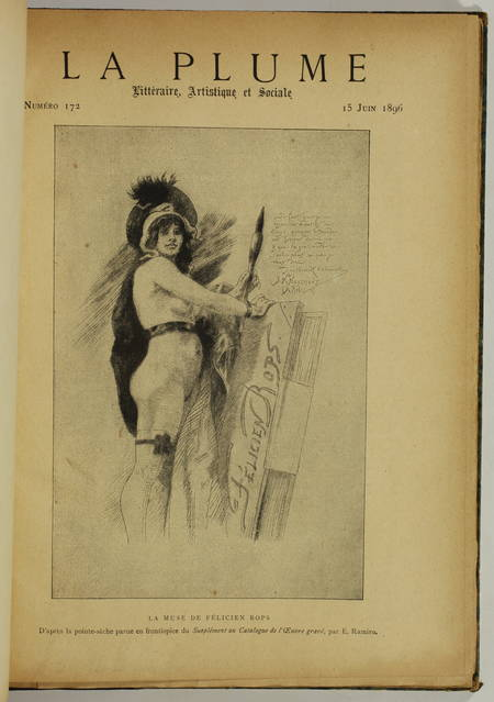 Félicien Rops - Numéro spécial de La Plume - 1896 - Photo 1 - livre de collection