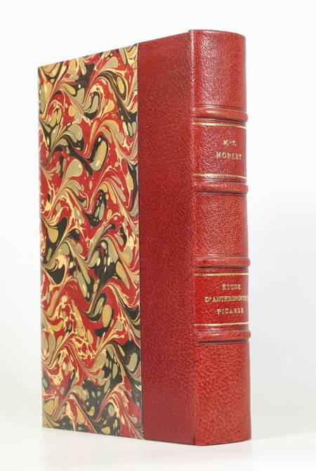 MORLET - Anthroponymie en haute Picardie XIIIe-XVe s. - 1967 - Relié maroquin - Photo 0 - livre de bibliophilie