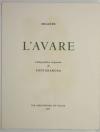 MOLIERE - L avare - 1973 - Lithographies originales de Fontanarosa - Photo 3, livre rare du XXe siècle