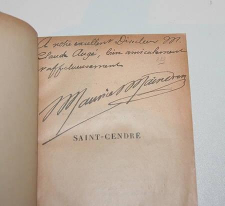 MAINDRON (Maurice). Saint-Cendre, livre rare du XIXe siècle
