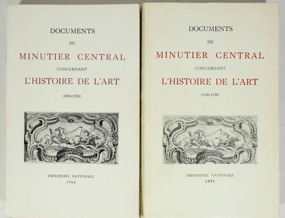 RAMBAUD (Mireille). Documents du minutier central concernant l'histoire de l'art (1700-1750), livre rare du XXe siècle