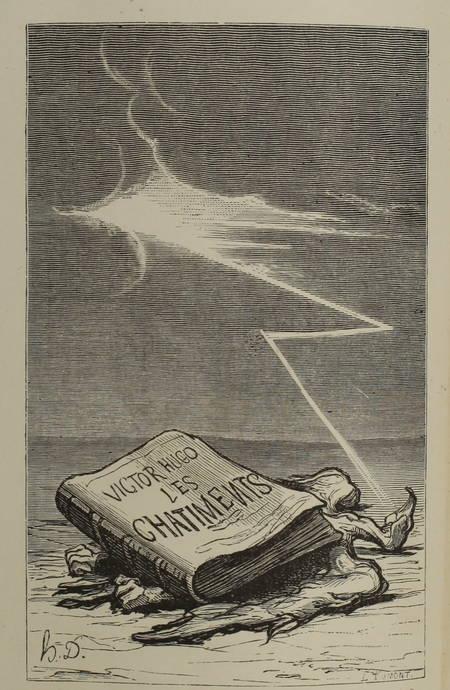HUGO - Les châtiments (après 1870) - Maroquin - Frontispice par Honoré Daumier - Photo 1, livre rare du XIXe siècle