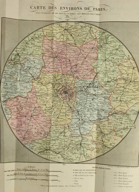 DUFEY (P.-J.-S., de l'Yonne). Nouveau dictionnaire historique des environs de Paris, livre rare du XIXe siècle