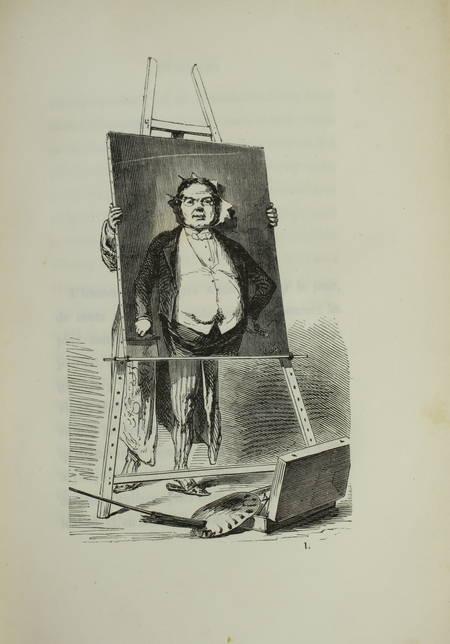 GAVARNI. Masques et visages, livre rare du XIXe siècle