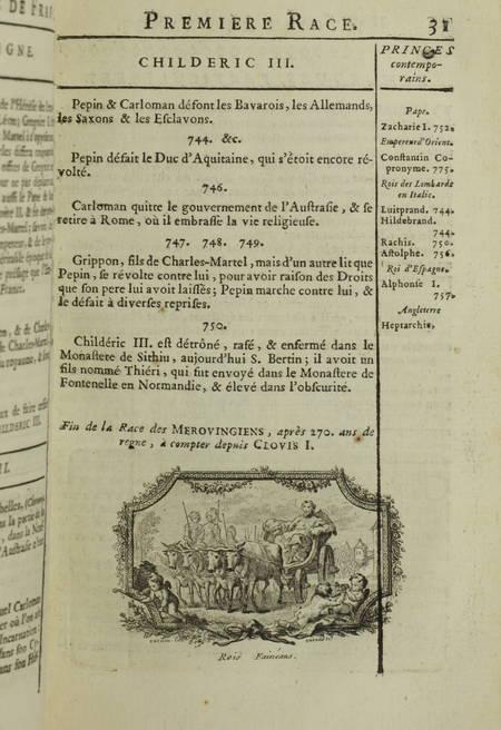 Nouvel abrégé chronologique de l histoire de France - 1746 - Vignettes - Photo 3 - livre du XVIIIe siècle