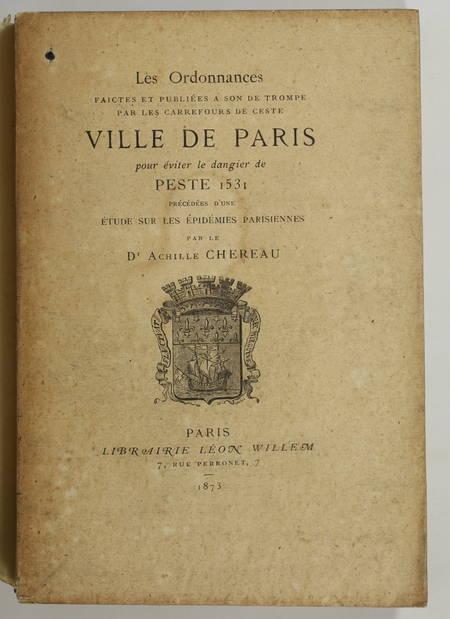 Les ordonnances publiées à son de trompe pour la peste de 1531 - 1873 - Photo 1, livre rare du XIXe siècle