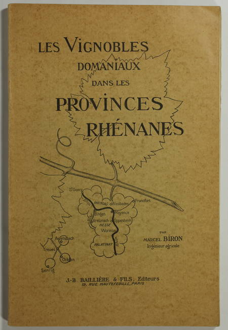 OENOLOGIE - Biron - Vignobles domaniaux rhénans (1920-1925) - 1927 - Photo 0 - livre de collection