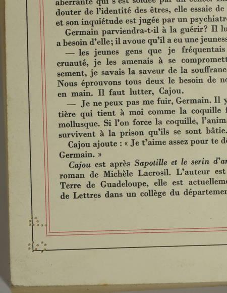 LACROSIL (Michèle). Cajou