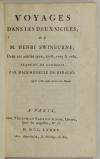 SWINBURNE - Voyages dans les deux siciles - 1785 - Dos armes de Fleurieu - Photo 3, livre ancien du XVIIIe siècle
