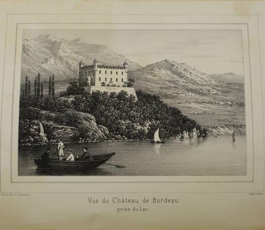 MAILLAND. Bordeau, son château féodal, le Mont-du-Chat et le lac du Bourget. Etudes historiques, scientifiques et pittoresques, livre rare du XIXe siècle
