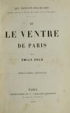 ZOLA (Emile). Le ventre de Paris