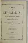 Ctesse de BASSANVILLE - Code du cérémonial - Guide des gens du monde - 1873 - Photo 1 - livre d occasion