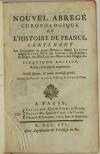 Nouvel abrégé chronologique de l histoire de France - 1756 - 2 volumes - Photo 1, livre ancien du XVIIIe siècle