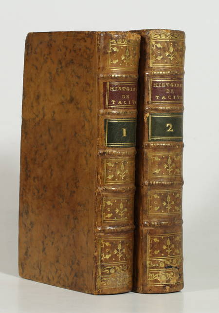 TACITE - Histoire - 1772 - Notes de Dotteville - 2 volumes - Plans - Photo 0 - livre ancien