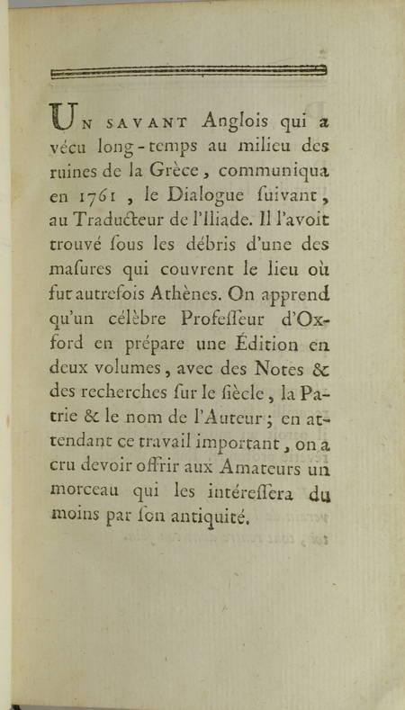 HOMERE - L Iliade. Traduction nouvelle - 1776 - 2 volumes - Photo 3 - livre ancien