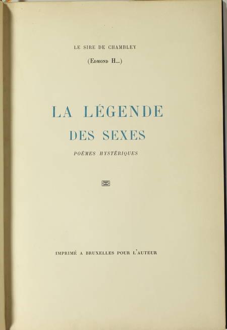 HARAUCOURT - La légende des sexes. Poèmes hystériques - Photo 2 - livre moderne