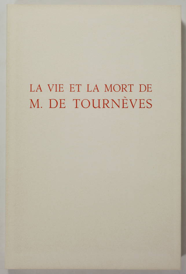 [Martinique] DERENNES La vie et la mort de M. de Tournèves 1961 - Henry Lemarié - Photo 4 - livre moderne