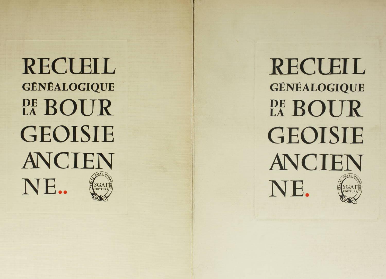 DELAVENNE - Recueil généalogique de la bourgeoisie ancienne - 1954 - 2 volumes - Photo 0 - livre de collection