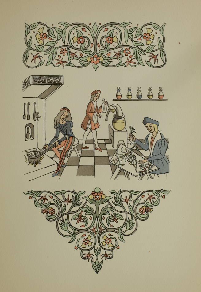 Maistre Raoul du Mont Vert - Les fleurs et secretz de médecine 1949 - M-E Mathis - Photo 0 - livre de bibliophilie