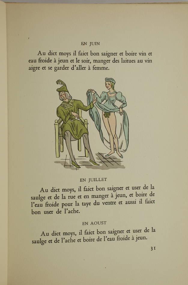 Maistre Raoul du Mont Vert - Les fleurs et secretz de médecine 1949 - M-E Mathis - Photo 2, livre rare du XXe siècle