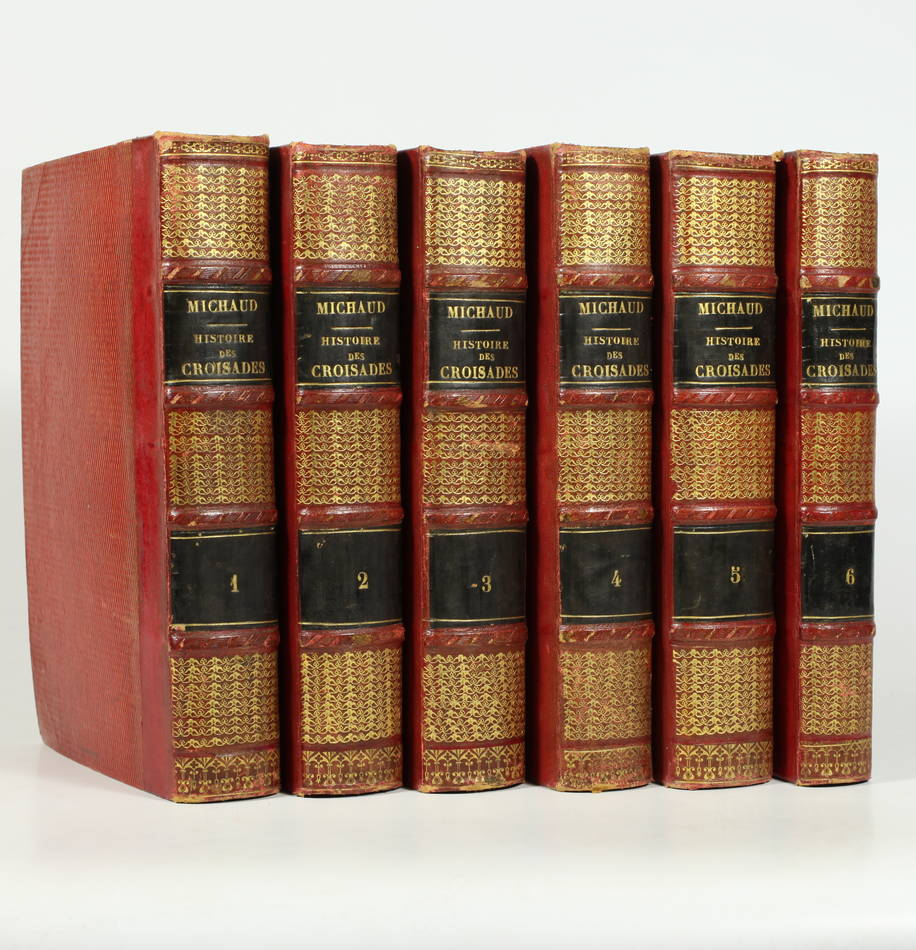 MICHAUD - Histoire des croisades - 6 volumes - 1825-1829 - Reliés - Cartes - Photo 0 - livre rare
