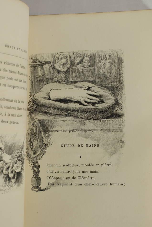 Théophile GAUTHIER - Emaux et camées - 1887 - Avec la prime aux souscripteurs - Photo 3 - livre du XIXe siècle