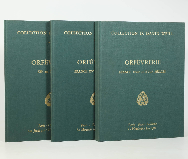 Orfèvrerie - Collection D. David-Weill - 3 volumes - 1971-1972 - Photo 0 - livre de bibliophilie