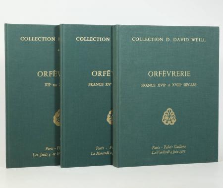 . Orfèvrerie. Collection D. David-Weill. I : France XVIIe et XVIII siècles; II : XVe au XVIII siècles; III : XIIe XIX e siècle
